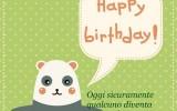 Cartolina tenera di buon compleanno