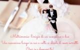 Frase di auguri per un cammino di matrimonio