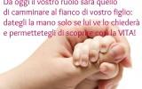 Frase nascita: Un figlio per mano