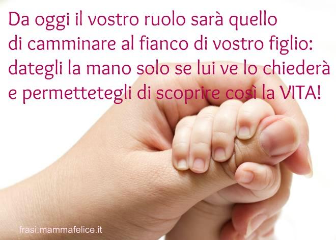 Popolare Frase nascita: Un figlio per mano | Frasi Mammafelice CT77