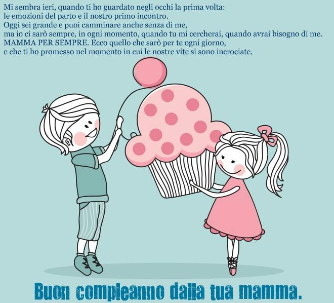 spesso Frase auguri di compleanno per i figli | Frasi Mammafelice DA52