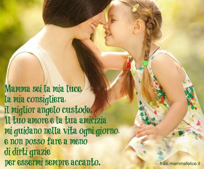 frase festa della mamma: mamma angelo custode e amica