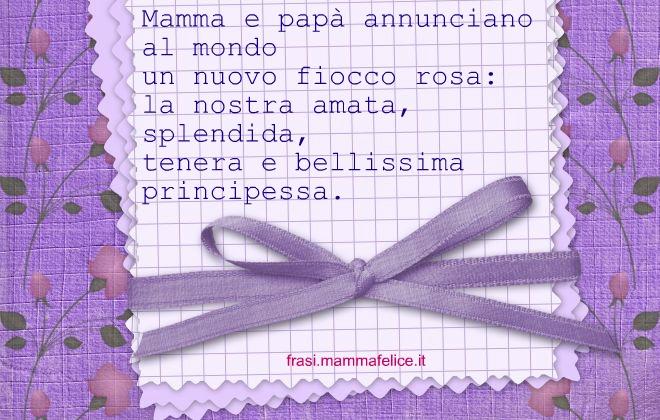 Top Frasi auguri per la nascita: Fiocco rosa | Frasi Mammafelice LU31