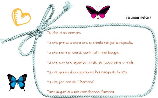 Estremamente Frase di auguri per il compleanno della Mamma | Frasi Mammafelice RF16