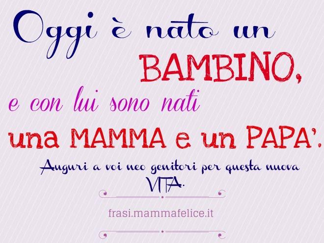 Eccezionale Frasi per la nascita per i genitori | Frasi Mammafelice HV18