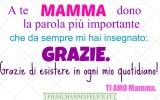 Frasi per la festa della Mamma: Grazie