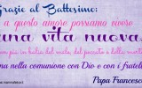 Frase per il Battesimo di Papa Francesco