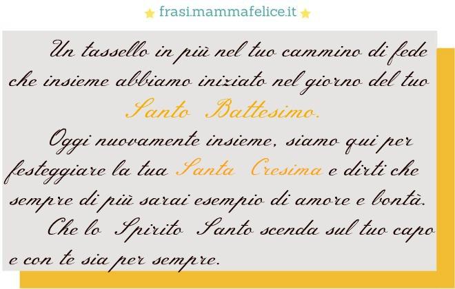 Frase Per La Santa Cresima Cammino Di Fede Frasi Mammafelice